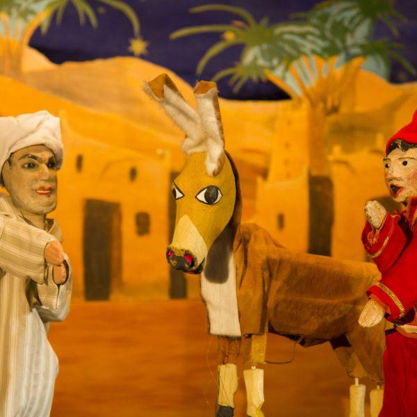 Djeha, son père et l'âne.