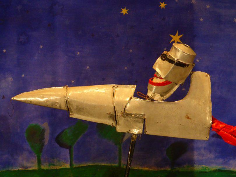 Le baron noir dans sa fusée